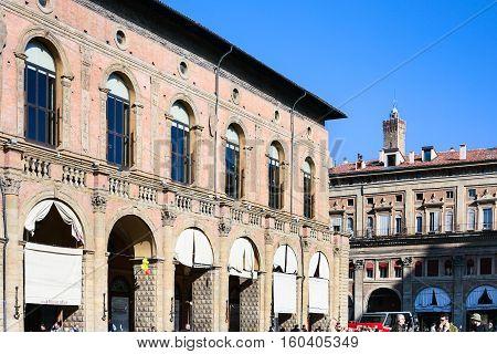 Palazzo Del Podesta On Piazza Maggiore In Bologna