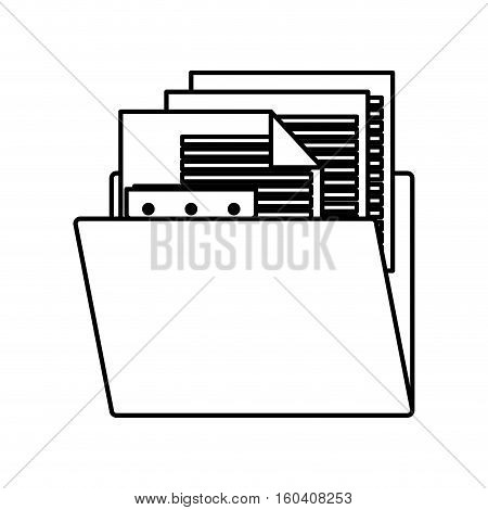 Document and file icon. Data archive office and information theme. Isolated design. Vector illustration