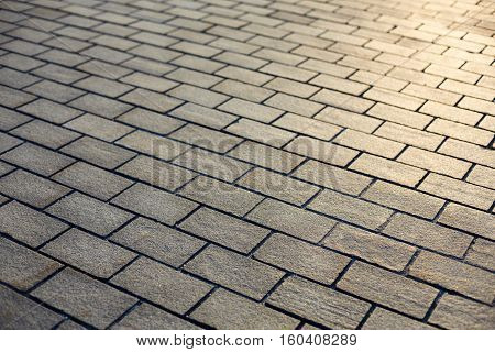 Background of stone pavement texture. Close up