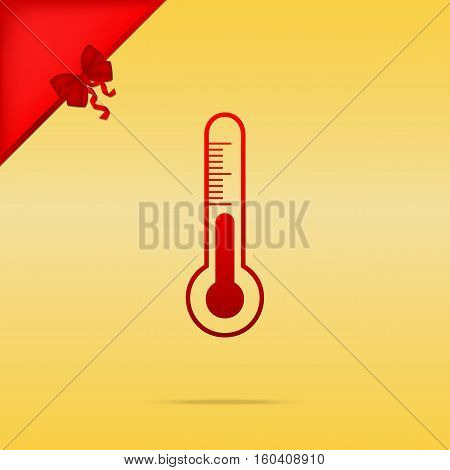 Meteo Diagnostic Technology Thermometer Sign. Cristmas Design Re