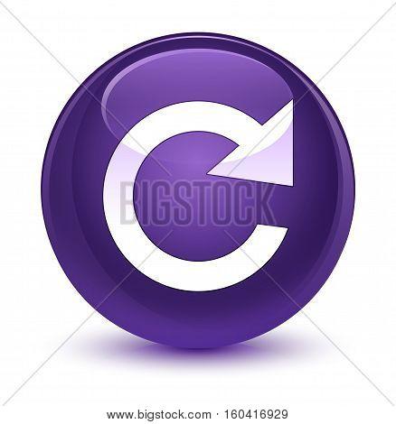 Reply Rotate Icon Glassy Purple Round Button