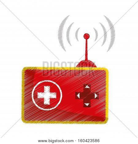 Drone robot technology icon vector illustration graphic design icon vector illustration graphic design
