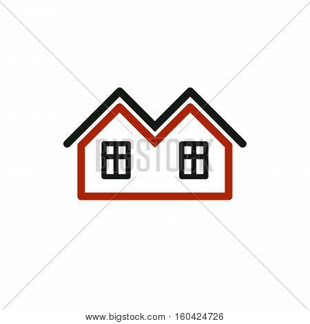 Vector Stylish Estate Agency Symbol. Creative Construction Icon - Houses. Commercial Building And De