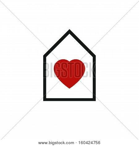 House Abstract Vector Icon, Harmony At Home Idealistic Concept. Simple Building, Architecture Theme