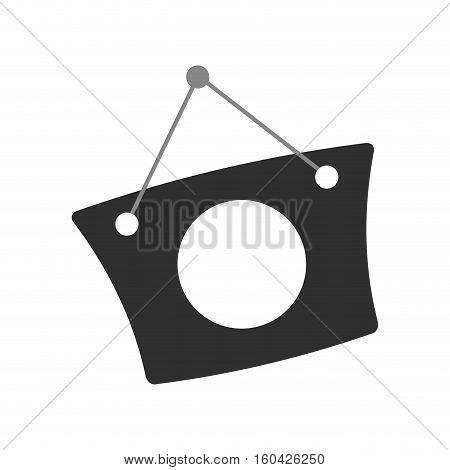 singboard label blank hanging gray color vector illustration eps 10