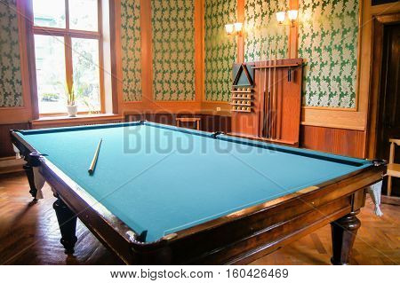 Sochi, Russia - 7 May, Billiard Room at Stalin's dacha, 7 May, 2016. Stalin's dacha in the sanatorium Green Grove.