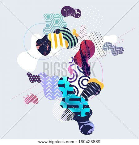 Abstract multicolor geometric background