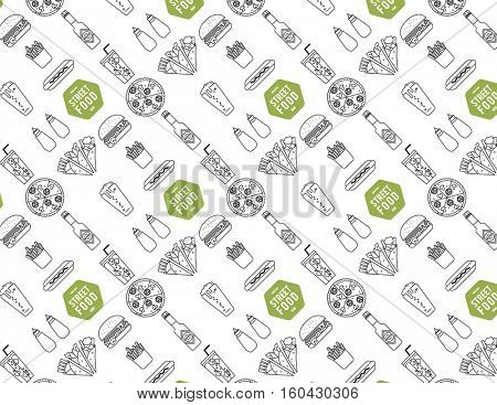 STREET OR RESTAURANT FOOD PATTERNED PAPER.