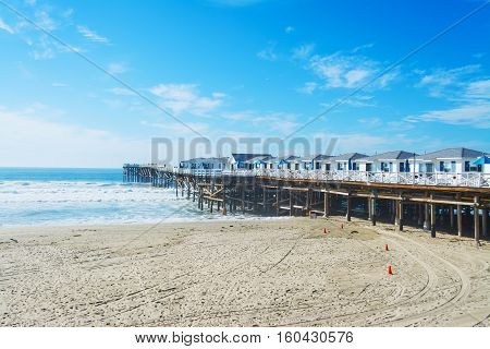 Crystal pier in Pacific Beach in California