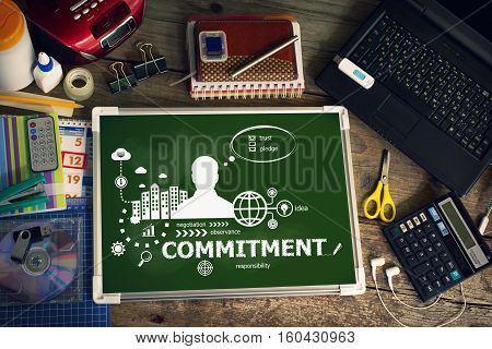 Commitment Design Concept For Business, Consulting