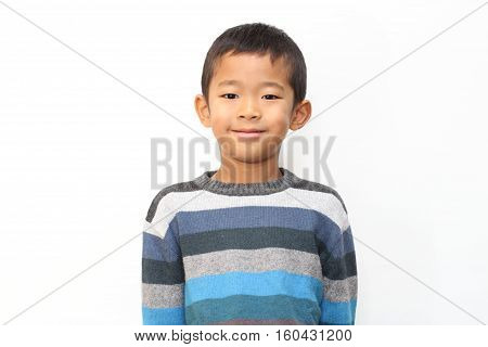 Smiling Japanese boy (first grade at elementary school)