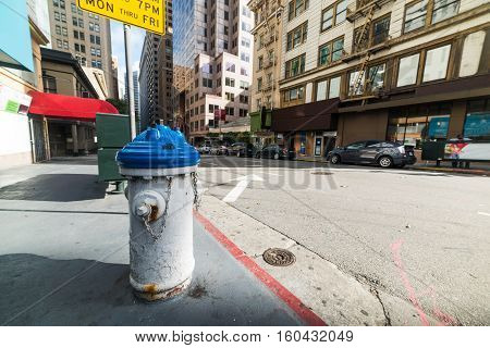 close up of a fire hydrant in downtown San Francisco California