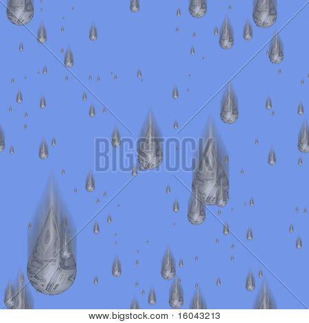 Seamlessly repeatable money rain pattern