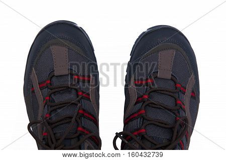 Sports shoes isolated on the white background