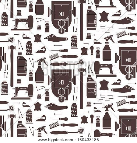 Vector seamless pattern of furrier tools. Print on white background. For website construction mobile applications banners corporate brochures book covers layouts