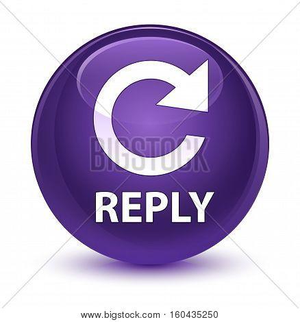 Reply (rotate Arrow Icon) Glassy Purple Round Button
