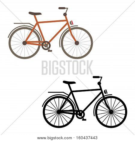 Bicycle icon - sports race, gear, sport, ride