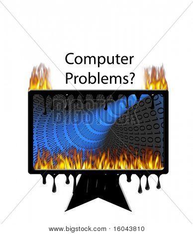 Burning melting computer