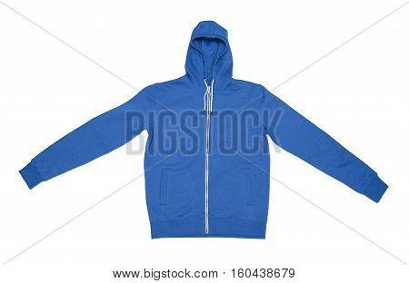 Sweatshirt jacket isolated on the white background