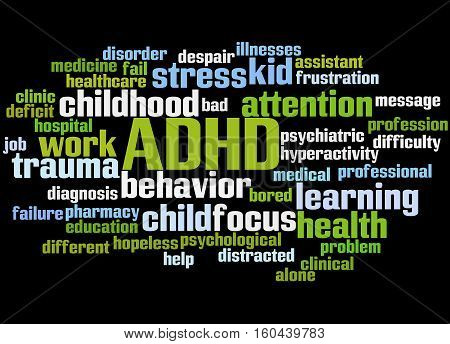 Adhd - Attention-deficit Hyperactivity Disorder, Word Cloud Concept 5