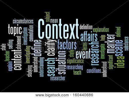 Context, Word Cloud Concept 2