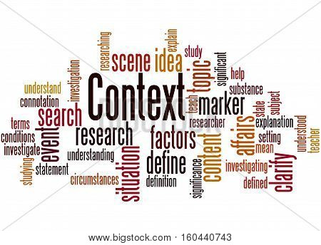 Context, Word Cloud Concept 3