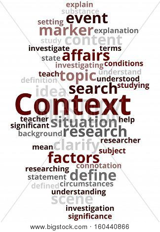 Context, Word Cloud Concept 5