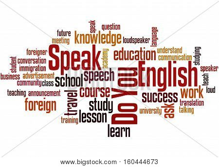 Do You Speak English, Word Cloud Concept