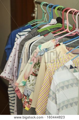 Drying cloth and swaddle on hanger, dry, wear, swaddle, air, cloth, sun,