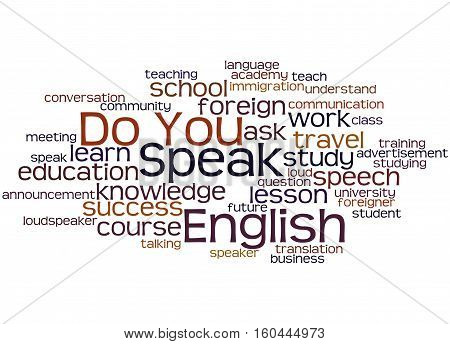Do You Speak English, Word Cloud Concept 5