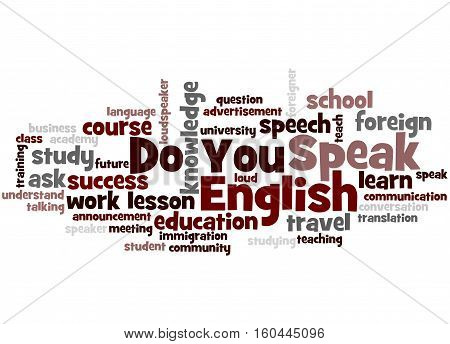 Do You Speak English, Word Cloud Concept 6