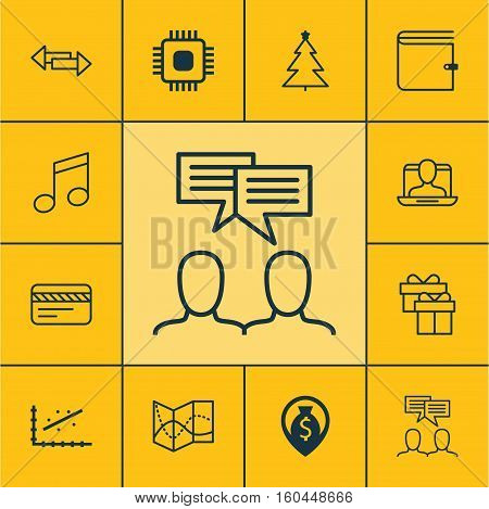 Set Of 12 Universal Editable Icons. Can Be Used For Web, Mobile And App Design. Includes Elements Such As Money Navigation, Crotchets, Crossroad And More.