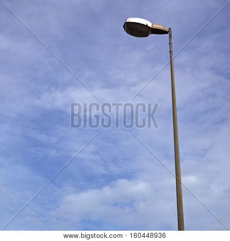 electric lamp on a nice day  lamp, blue, street, streetlamp,