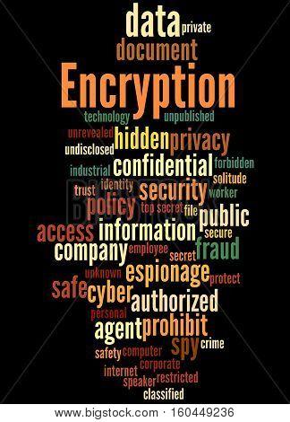 Encryption, Word Cloud Concept 9