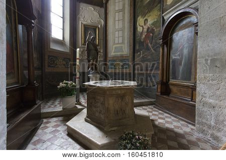 Interior Of The Cathedral In Gubbio