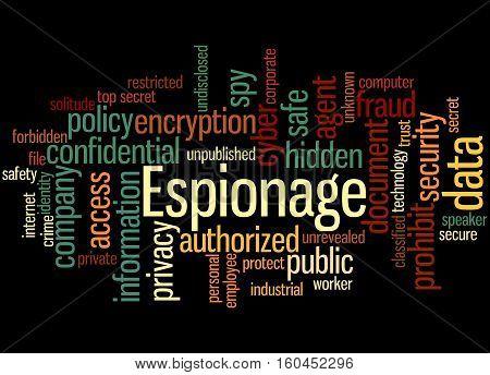 Espionage, Word Cloud Concept 4