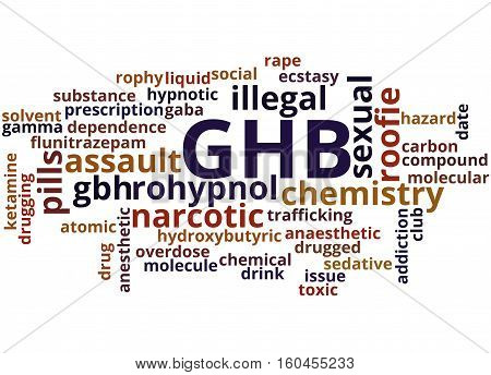 Ghb - Gamma-hydroxybutyrate, Word Cloud Concept