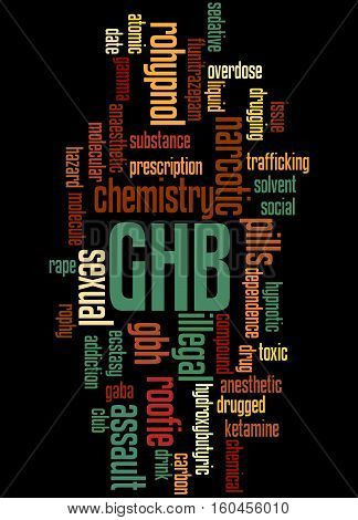 Ghb - Gamma-hydroxybutyrate, Word Cloud Concept 4