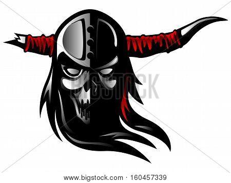 Warrior Skull Demon Tattoo Death Symbol Motorbike Spirit