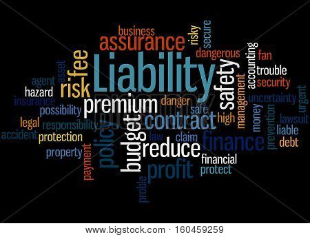 Liability, Word Cloud Concept 4