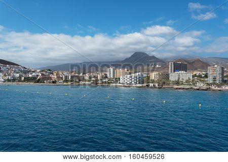 Los Cristianos Cityscape Tenerife Canary islands Spain.