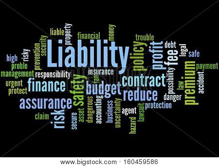 Liability, Word Cloud Concept 7