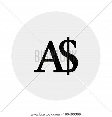Currency of Australia - Australian dollar on a grey background