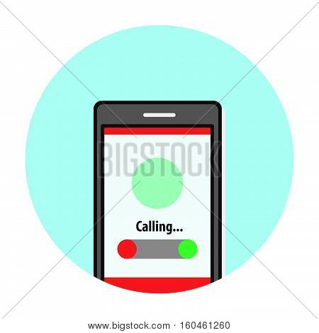 phone calling answer button flat icon vector