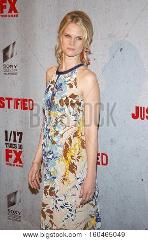 Joelle Carter at the season 3 premiere screening of FX's 'Justified' held at the DGA Theater in Hollywood, USA on January 10, 2012.