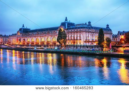 D'Orsay museum building in Paris France at sunrise