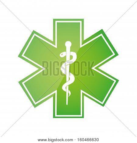 caduceus symbol isolated icon vector illustration design