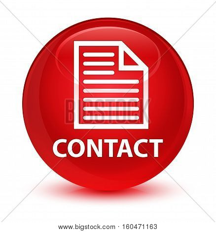 Contact (page Icon) Glassy Red Round Button