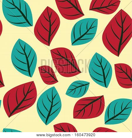 Leaves leaf seamless pattern nature vector stock