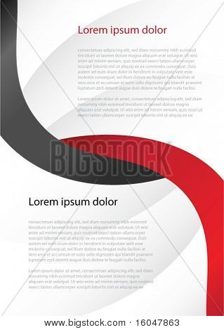 Wave abstract background for business artworks. Vector